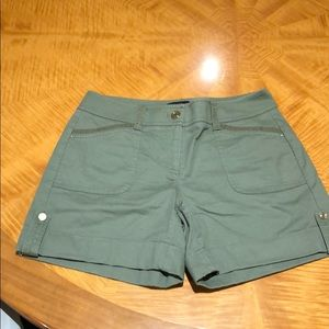 White house black market army green shorts